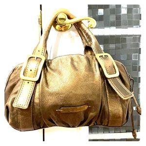 💕Cole haan metallic bronze leather satchel bag 💕
